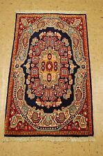 Circa 1930s Antique Fine Detailed Persian Sarouk Ferahan Rug 1.10x3.2 High Kpsi