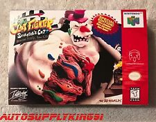 CLAY FIGHTER: SCULPTOR'S CUT (Nintendo 64, N64) Game Custom Box + Tray Only New