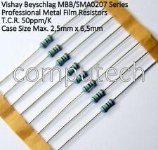 100pcs MF0207FTE-3K3 Resistenza metal film THT 3,3k ohm 0,6W ±1/% Ø2,4x6,3mm 50pp