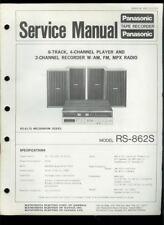 Panasonic RS-862S AM FM Radio 8-Track Tape Deck Orig Factory Service Manual