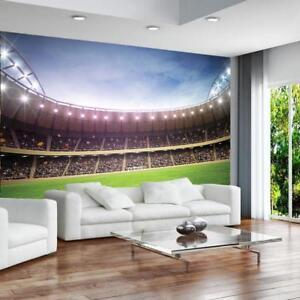 Football Stadium Pitch Sports Wall Mural Photo Wallpaper Bedroom 260x175cm sa
