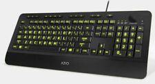 Azio KB506 Vision Backlight Keyboard - Black
