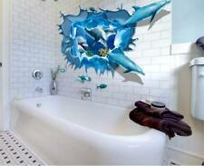 Wall Stickers 3D Dolphin Wall Tattoo Art Decal Home Decor kids children bathroom