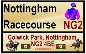 Cheval de Course 'Road' Signes (Nottingham) - Souvenir Nouveauté Frigo Aimant /