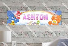 Personalized/Customized Care Bear Name Poster Wall Art Decoration Banner