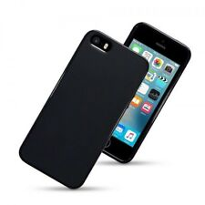 Funda carcasa lisa color negro negra tpu gel silicona para Apple iPhone 5/5S/SE