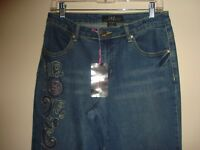 ~MIDNIGHT VELVET~  Unique Embroidered Jeans~ Size 6~ NWT~