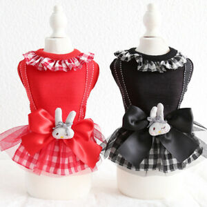 Cute Bunny Pet Skirt Clothes Small Dog Chihuahua Poodle Summer Dress XS S M L XL