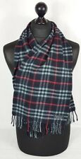 BURBERRY SCARF 100% CASHMERE MADE IN ENGLAND NAVY #A573