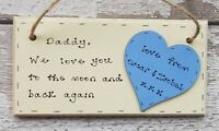 Christmas gift for Dad / Daddy / Grandad Personalised wooden plaque handmade