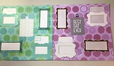 Best Day Ever! 2- 12x12 Scrapbooking Pages, New, Hand made