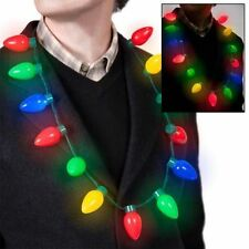 LED Light Up Christmas Bulb Necklace Party Favors for Adults Kids Holiday Gifts