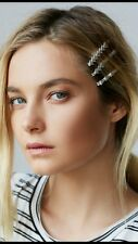 Free People NEW Silver Arrow Hair Clips Set of 6 Bobby Pins Anthropologie NEW