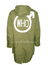 THE Who Quadrophenia | Verde Oliva Fishtail Parka | Taglie XS di grandi dimensioni