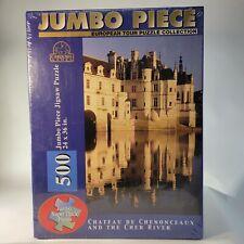 "Vintage Collectible Chateau De Chenonceaux 500 Jumbo Piece -24 X 36"" NEW SEALED!"
