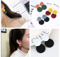 Elegant Women Ladies Round Dangle Long Ear Stud Drop Earrings Jewelry Gifts