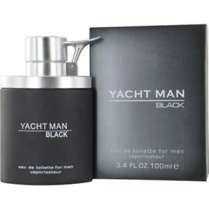 YACHT MAN BLACK by Myrurgia cologne EDT 3.3 / 3.4 oz New in Box