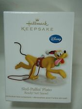 2012 Hallmark Keepsake Ornament Sled Pulling Pluto Ready Set Snow