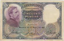 Billete 50 PESETAS emision 25 de Abril de 1931 -EBC- BANCO DE ESPAÑA