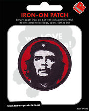 CHE GUEVARA red & black circular EMBROIDERED IRON/SEW ON PATCH/BADGE (sealed)