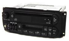 2001 Jeep Grand Cherokee Radio AM FM Cass CD w Aux Input P04858540AH Twin 7 RAZ