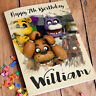 Five Nights at Freddy's Personalised Birthday Card FREE Shipping | Boys Girls