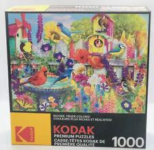 Kodak Premium Puzzle 1000 Pieces Bird Bath Garden by Lars Stewart Factory Sealed