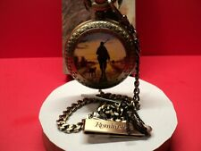 REMINGTON POCKET WATCH  WITH HUNTER ON COVER