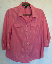 Style & co. 3/4 Sleeve Button Front Blouse Size 16W