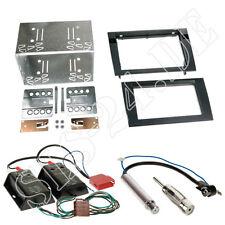 AUDI A4 B6/B7 DOPPEL 2-DIN Blende Rahmen+ BOSE Aktiv Systemadapter + Antenne Set