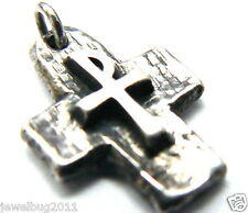 RARE James Avery Vintage Textured Cross  Sterling Silver Pendant UNISEX