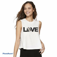 Spiritual Gangster NWT LOVE Cropped Muscle Tank White Women's Size XL MSRP $48