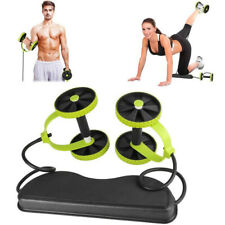 Gym Abdominal Abs Roller Waist Wheel Handle Fitness Exercise Workout Machine Usa
