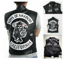Sons of Anarchy Leather Jacket Vest Men Motorcycle Spring Jackets SOA Vests Top