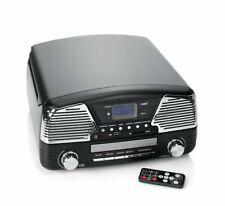 Nostalgie Musikanlage DAB+ Radio Encoding Plattenspieler CD USB Chrome Design