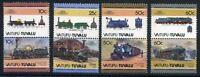Vaitupu Tuvalu MiNr. 37-44 postfrisch MNH Lokomotive (Eis425