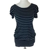 Womens Red Herring Black & Grey Striped Jersey Style Dress. UK Size 10. EXC CON.