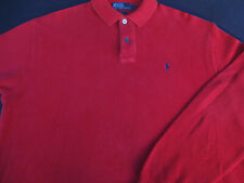 Ralph Lauren Mens Polo Pullover Knit Long Sleeve Red Cotton Logo Sweater Large L