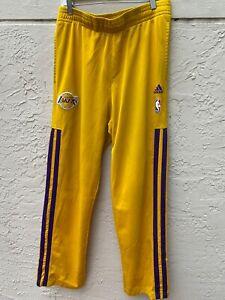 ADIDAS NBA 2012 LA LAKERS LOS ANGELES BASKETBALL TRACK WARM UP PANTS SZ L