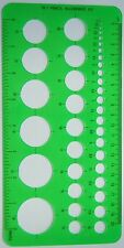 4x NEW Circle Template Stencil 1 to 36 mm with Metric & Imperial Ruler Edges