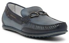 $225 Bacco Bucci Condotti Loafer Men's Leather Slip On Shoes Blue Size 9 - Italy
