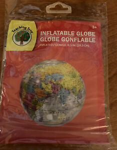 New Inflatable Globe For Ages 3 And Up 11.5 Inches