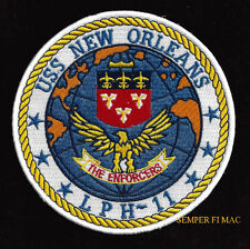 USS NEW ORLEANS LPH-11 PATCH US NAVY MARINES TO THE SHORES OF PIN UP CARRIER WOW