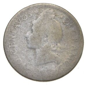 Roughly Size of Dime 1963 Dominican Republic 10 Centavos World Silver Coin *912