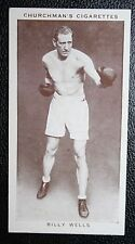 British Heavy Weight Boxing Champion  Bombardier Billy Wells     Vintage Card