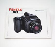Pentax 645 Owners Manual Medium Format Perfect Condition Great Reference
