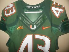 MIAMI HURRICANES GAME USED FOOTBALL JERSEY NIKE FLYWIRE
