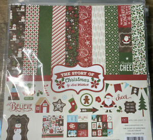 ECHO PARK The Story Of CHRISTMAS 12x12 Collection Kit Cards Scrapbook TSC94016TM