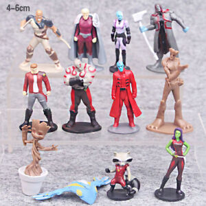Guardians Of The Galaxy Groot Action Figure Kids Toy Gift Cake Topper 12 Pcs