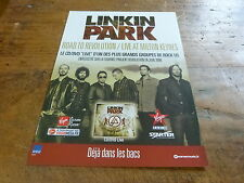 LINKIN PARK - Publicité de magazine / Advert ROAD TO REVOLUTION !!!